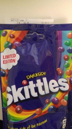 Skittles darkside 174g pack in Tesco Express 48p