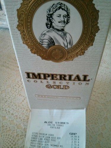 Imperial Collection Gold Russian Vodka 700 ml £14.99 @ Aldi