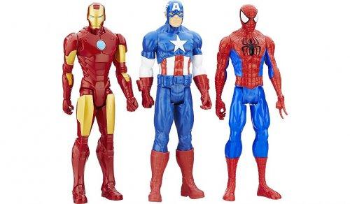 Marvel Titan Hero Series 3-Pack Action Figures 12 inch £19 @asda direct