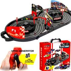 Slot car racing game in carry case no batteries needed £19.99 delivered @ eBay sold by pink_and _blue_gifts