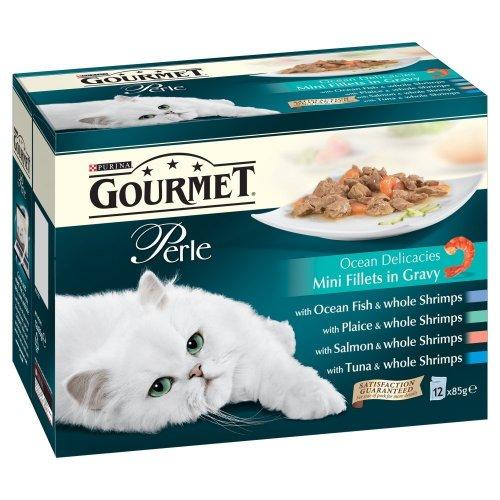 Purina Gourmet Perle Wet Cat Food Mini Fillets in Gravy, 12 x 85 g - Ocean Delicacies (Pack of 4) £12 @ Amazon