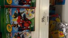 Crayola ultimate Spider-Man mini colouring pages 99p @ Home Bargains