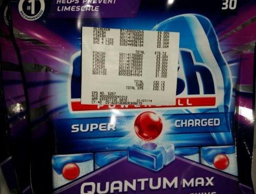 30 Finish Quantum Max scanning for £3.00 in ASDA