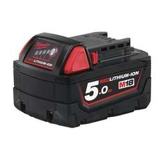 Milwaukee M18B5 M18 5.0Ah Red Lithium-Ion Battery £51.98 Fulfilled by Amazon