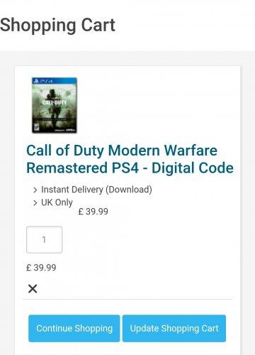 Call of Duty 4 Remastered PS4 £39.99 cdkeys.com
