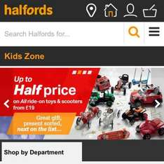 Up To 50% Off Bikes, Scooters & Ride On's Halfords