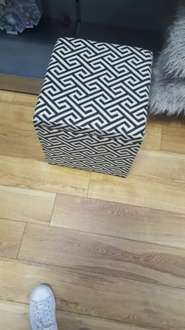 Matalan Geometric Print Storage Stool/Reduced In Store for £17.50