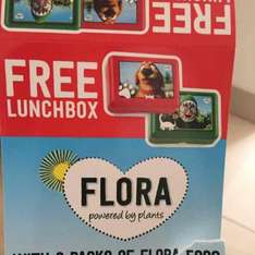 flora margarine 1KG with free lunch box 99p in Farmfoods