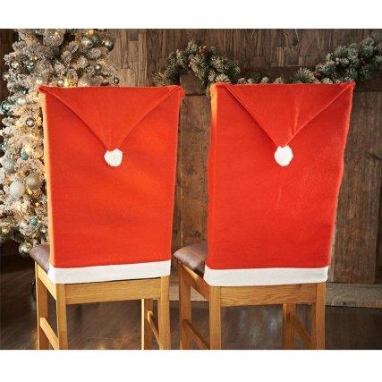 Santa's Hat Chair Covers 2pk / Elf's Hat Chair Covers 2pk £1.99 @ B&M