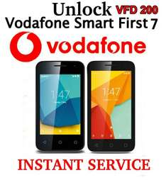 Android Vodafone Smart 7 Unlock Service - £0.99 @ Guru7 via eBay