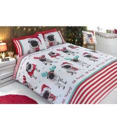 Christmas Pugs Duvet Set at Studio from £4.99 plus £4.99 delivery (£9.98) Studio