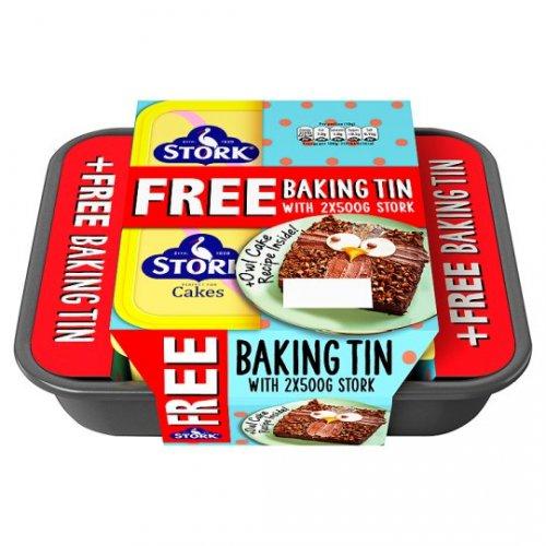 Stork Original Spread 2X500g Plus Free Baking Tin £2 @Tesco