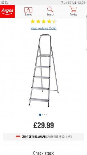 Ladder £29.99 @ Argos