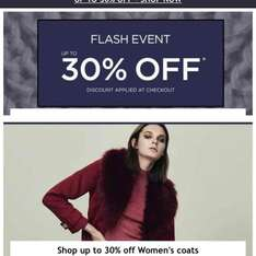 up to 30% off Men's & Woman's Coats, Jackets, Winter Accessories @ House of Fraser