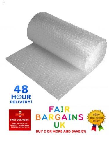 300mm x 100m Roll of Bubblewrap + Free delivery £4.89 @ eBay fairtradepackaging
