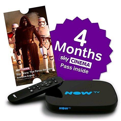 New Nowtv Smart Box + 4 Month Movie Pass £34.99 @ John Lewis