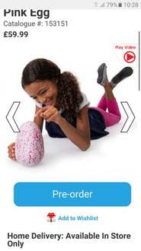 Hatchimal pre-order Smyths toys - £59.99
