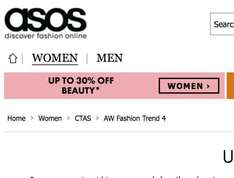 up to 30% off beauty products for women @ ASOS