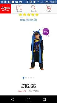 1/3 off pj's plus 3 for 2 at argos. Perfect for Xmas eve boxes