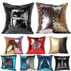 Sequin Reversible Colour Changing Cushion Cover (choice of 12 Colours) £3.99 Del @ AliExpress (sold by BeddingOutlet)