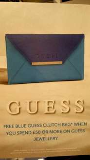 Free Guess Bag when spend £50 on Guess Jewellery @ House of Fraser (instore)