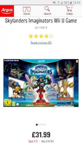 Skylanders Imaginators for Wii U £31.99 @ Argos