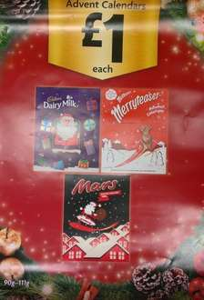 Advent Calenders HALF PRICE - £1 each at Morrisons