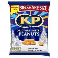 KP Dry Roasted Peanuts (450g bag) / KP Original Salted Peanuts (450g bag) was £2.98 now Only £2.00 (Rollback Deal) @ Asda
