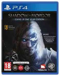 Middle-Earth: Shadow of Mordor Game of the Year Edition (Ps4) preowned £9.99 @ GAME