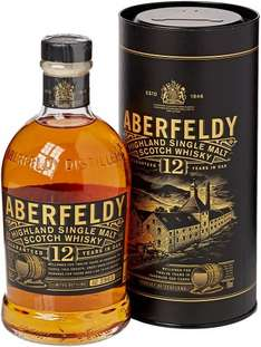 Aberfeldy 12 yo malt whisky £25 @ amazon reduced by £19.02