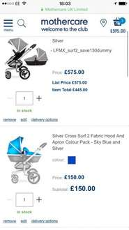 Silver cross surf 2 £535 @ Mothercare