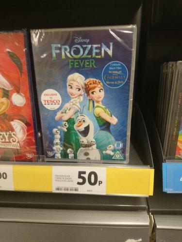 Disney Frozen Fever DVD 50p @ Tesco