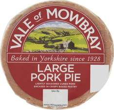 Vale of Mowbray Large Pork Pie (440g) was £1.98 now £1.00 (Rollback Deal) @ Asda
