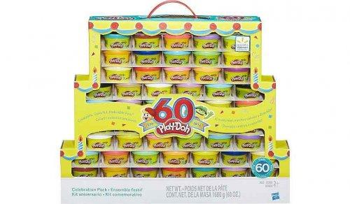 60 Play-Doh £15 Asda Direct (25p a tub)