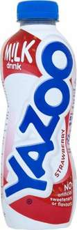 Yazoo Milk Drink 400ml 50p 1/2 PRICE Strawberry, Chocolate, Vanilla and Banana Flavours offered by ASDA, TESCO AND MORRISONS!!!