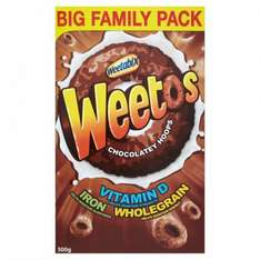 Weetabix Chocolate Weetos 500g FAMILY PACK ONLY £1 WAS £2.51 @ MORRISONS
