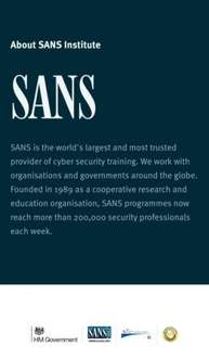 FREE CYBER SECURITY TRAINING | SANS Institute