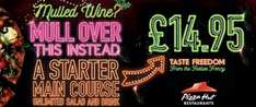 Pizza hut christmas meal deal for one including prosecco £14.95 @ Pizza Hut