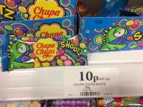 Chupa Chups Shootz - 10p @ Home Bargains
