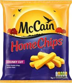 McCain Extra Chunky Home Chips 1Kg 1/2 PRICE £1.30 WAS £2.60 TESCO