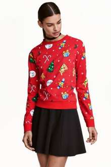 H&M Ladies Xmas sweatshirts £5.99 (£6.88 delivered with a candle)
