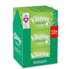 Cry for Clinton! USA woes solved with Kleenex balsam tissues 12 boxes for £12 or £11.40 S&S at Amazon (Prime or add £2.99)