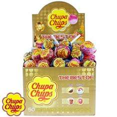 Chupa Chups Lollipops: The Best Of (Case of 50) 1/2 PRICE £5 WAS £10 HOME BARGAINS