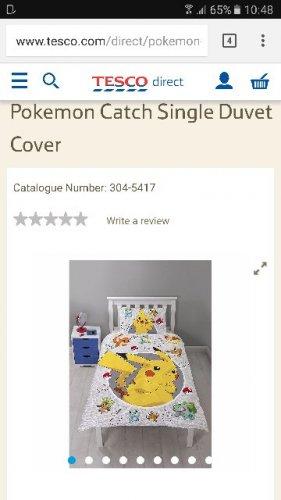 Pokemon Single Duvet - £12 @ Tesco Direct