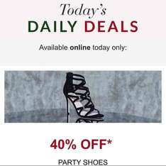 40% off party shoes online only @ debenhams