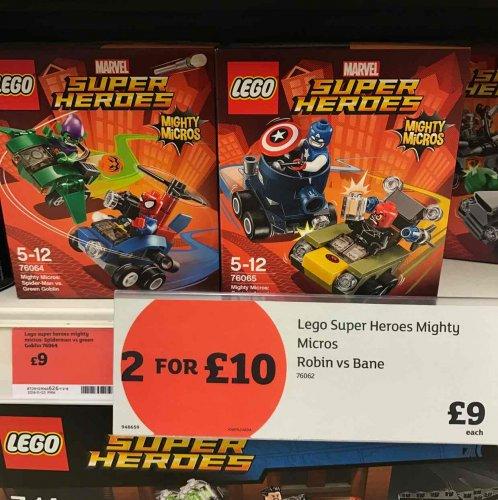 Sainsbury's, lego mighty micros 2 for £10