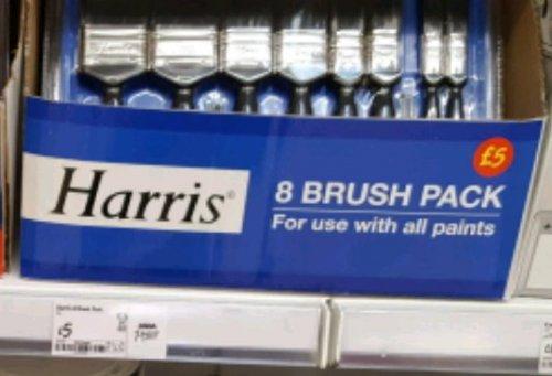 Harris 8 brush pack £5 @ Asda