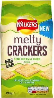 Walkers Melty Crackers - Sour Cream & Onion / Sweet Chilli (130g) was £1.49 now 2 bags for the price of one @ Waitrose