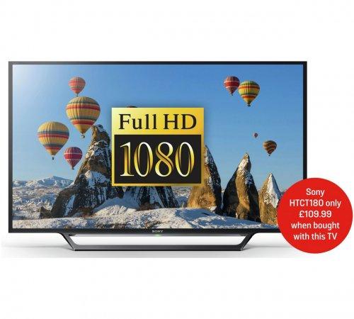 Sony 48 Inch KDL48WD653BU FHD Smart LED TV £314.10 + £10 Argos Voucher @ Argos