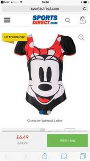 Minnie Mouse Woman's Swimsuit down to £6.49 at Sports direct